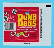 BUBBLE  GUM  WRAPPER  -  FLEER  -  DUMB  DABS