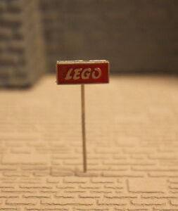 ( H6/43 ) LEGO ORIGINAL 60er JAHRE ANSTECKNADEL ROT  GUTER ZUSTAND SELTEN