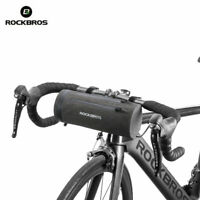 RockBros Bicycle Handlebar Bag Waterproof Cylinder Bike Frame Bag Black Gold 2L