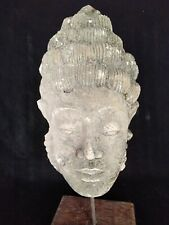 Mystical Balinese Buddha Head Sand Stone mounted on its custom made Stand