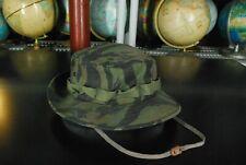 Vintage Tiger Stripe Camouflage Bucket Hat Camo Military Hip Hop Rap Boonie