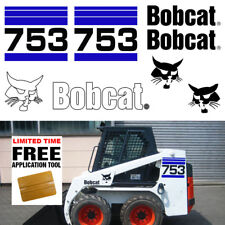 Bobcat 753 v2 Skid Steer Set Vinyl Decal Sticker bob cat MADE IN USA + FREE TOOL