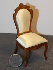 Dollhouse Miniature Bespaq Elegant Dining Chair Walnut 1:12 inch scale  K24