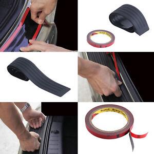 Rear Bumper Scratch Guard Protector Cover Strip Plate Bendable Rubber 90cm New