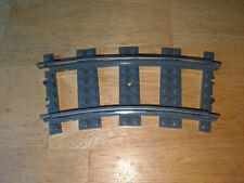 Lego World City 9V Railway TRAIN 4520 Curved Tracks Rails - set of 2 pieces
