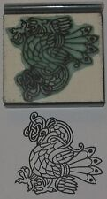 Celtic Peacock design Rubber Stamp by Amazing Arts