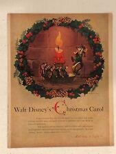 WALT DISNEY'S A CHRISTMAS CAROL Original 1957 McCall's Magazine Advertisement
