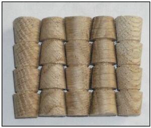 Pack of 100-12.7mm Solid European Wood Pellets/Plugs Beech