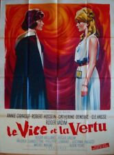 Le VICE ET LA VERTU AND VIRTUE French Grande movie poster 47x63 DENEUVE VADIM