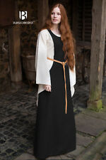 Medieval Surcot Overdress /Larp - Black By Burgschneider