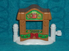 Fisher Price Little People Christmas Holiday Hot Chocolate Cocoa Booth Hut New