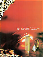 1977 Les Must de Cartier gold lighter watch gifts vintage photo Print Ad adL37