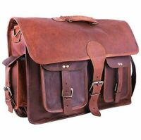 Men's Vintage Bag Genuine Leather Laptop Handmade Shoulder Messenger Satchel Bag