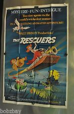 1977 Disney The Rescuers Original Release One Sheet Movie Poster Folded