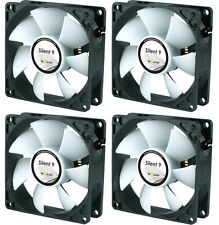 4 x GELID Solutions Silent 9 92mm Case Fans 1500 RPM, 31.3 CFM, 20.0 dBA
