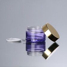 30G PURPLE CLEAR GLASS CREAM COSMETIC JAR GOLD LID WHOLESALE- NEW 50PCS/LOT