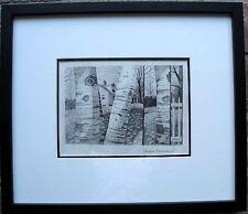 ROLLAND GOLDEN, Original Graphite Drawing, Triple Exposure, Signed