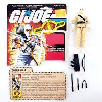 Vintage 1984 GI Joe Cobra Ninja Storm Shadow 6429 Complete w/ File Card