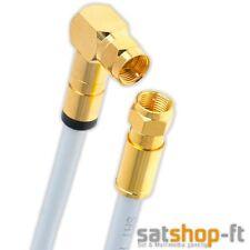 2m Sat Koax kabel Digital TV 135dB 1x 90° F-Stecker Antennenkabel ULTRA HD 4K 3D