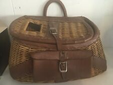 ANTIQUE FISHING CREEL BASKET