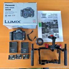 Panasonic LUMIX DMC-GH2 16.0MP Digital Camera - Black with Cage and extras.