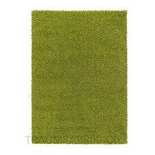 IKEA HAMPEN Teppich Langflor grün Langflor Hochflor Läufer Brücke 195 x 133 cm