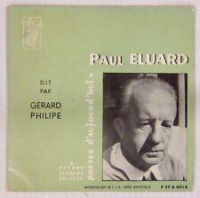 Paul Eluard dit par Gérad Philipe Pierre Seghers