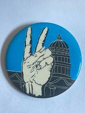 1969 Peace Sign Capitol Building Anti-War March on Washington Pinback Button