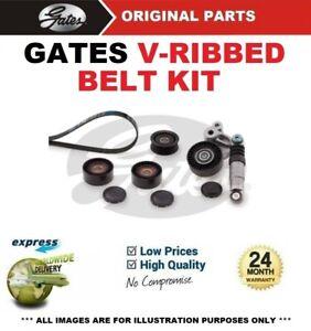 GATES FAN BELT PULLEY KIT for AUDI A6 Avant 3.0 TDI quattro 2005-2011