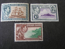 PITCAIRN IS. SCOTT # 6+7/8(3), 19440-51 KGV1 PICTORIAL ISSUE MVLH