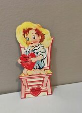 Vtg Valentine Card Cute Little Redhead Boy Have A Heart Be Mine Sweet Simple 40s