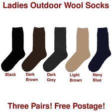 Wool Blend Patternless Socks for Women
