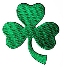 Beautiful Green Shamrock for Bags Jeans Embroidered Iron on Patch Free Postage