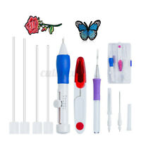 Magic Diy Embroidery Pen Sets Knitting Sewing Kits Punch Needle Tools Stitching