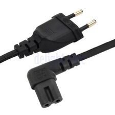 EU 2pin Male to 90 Degree Right Angled IEC 320 C7 Power Supply Cord Cable 1M DE