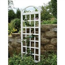 GARDEN TRELLIS IN WHITE VINYL ARCHED DESIGN HIGH QUALITY MADE IN THE USA