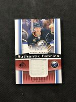 2013-14 SP GAME USED TYLER MYERS AUTHENTIC FABRICS FIGHT STRAP PATCH #ed 12/15