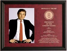 Donald Trump President of the United States framed & engraved photo plaque #2