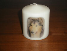 Candle Picture Rough Collie Dog Can Personalised Birthday Memorial Friend New