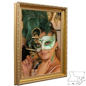 Bilderrahmen Athen Spiegelrahmen Holz Antik Barock Prunk Shabby Vintage 4 Farben