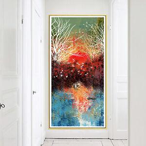 Abstract Art Oil Paint Landscape Silk Canvas Poster Modern Decor Unframed A780