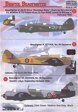 Print Scale Decals 1/48 BRISTOL BEAUFIGHTER British WWII Fighter
