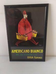 Wood Framed Vintage Advertising Print Americans Bianco Bra-Torino Bianchi