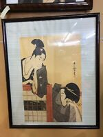 Japanese ukiyo-e prints and picture frames