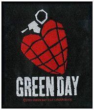 GREEN DAY - Heart Grenade  Aufnäher Patch 9x10cm