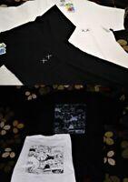KAWS SESAME STREET X UNIQLO White Black Pocket Tee T shirt XS S M L XL Genuine