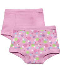 New 2 Pk Green Sprouts Girl's 3T Washable Potty Training Pants Underwear Pink