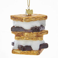 Noble Gems S'mores Glass Christmas Tree Ornament NB1282 New