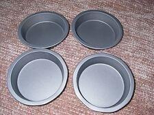 Individual Pie Dishes, Set of 4,  Non Stick, TEFLON 4 INCH 10 X 2 CM