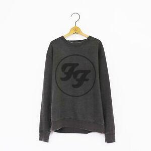 Men's 'Foo Fighters' Distressed Vintage-Style Rock Sweatshirt